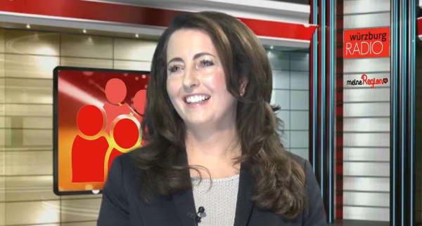 Melanie Ebert beim Interview mit Radion Würzburg